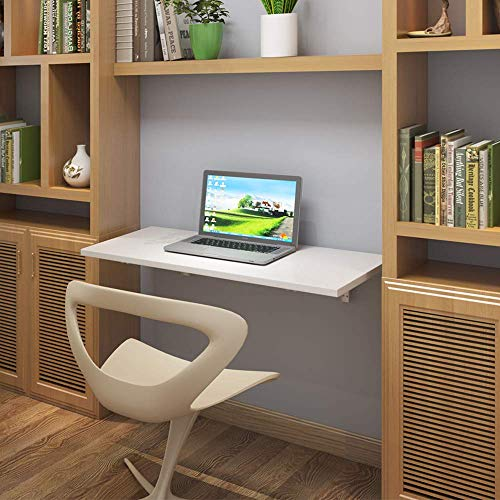 Need Fold Down Wall Mount Desk Heavy Duty Small Folding Wall Table Length 36' Width 20' Perfect Addition to Home Office/Laundry/Home Bar/Kitchen & Dining Room AC15DW(9050)