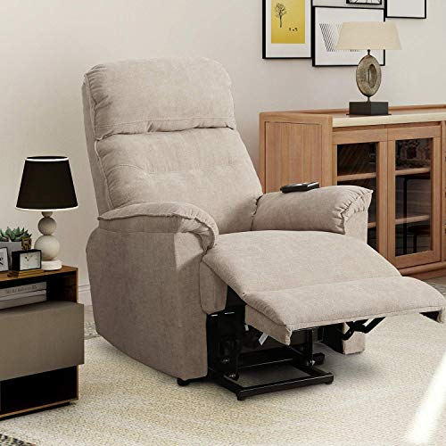 Power Lift Chair Recliner for Elderly Soft and Warm Fabric, with Remote Control for Living Room Furniture