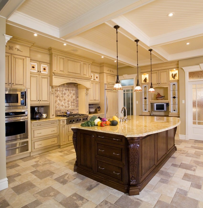 Beige-Kitchen-With-A-Large-Island