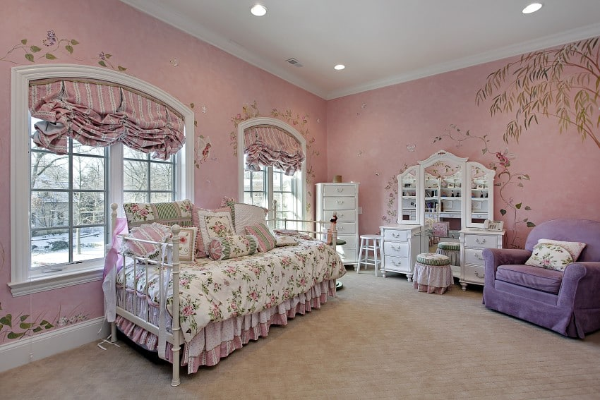 Pink-Bedroom-In-Suburban-Home