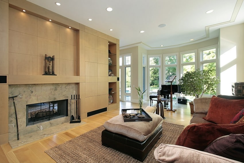 Living-Room-With-Marble-Fireplace