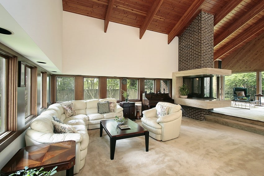 Living-Room-With-Brick-Fireplace