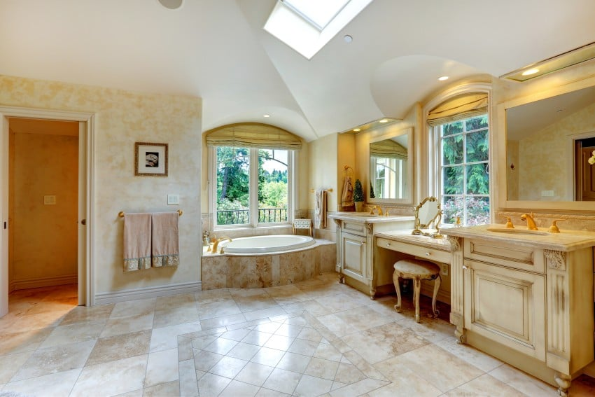 Luxury-Bathroom-With-Antique-Vanity