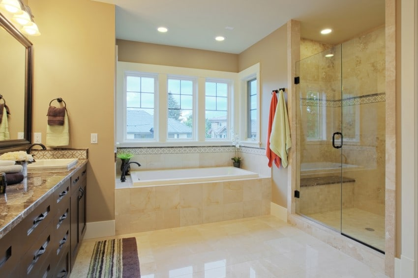 Luxury-bathroom-with-granite-countertops