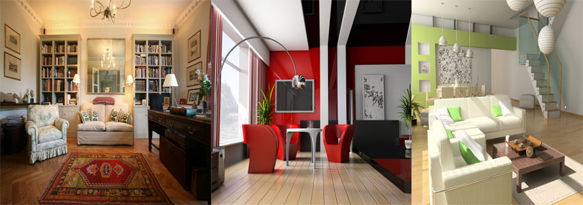 traditional-modern-contemporary interior design