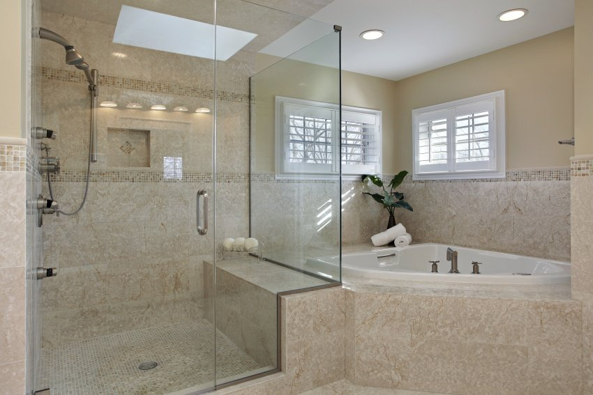 large shower cabin