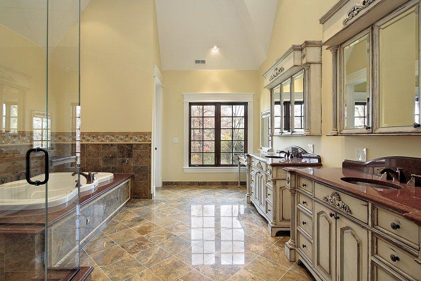 glass shower cabin. 40 Luxury Bathroom Interior Design Ideas  IMAGE GALLERY
