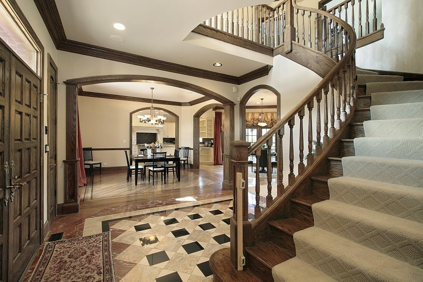 open concept home entry