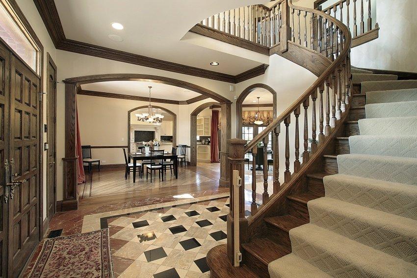 open concept home entry