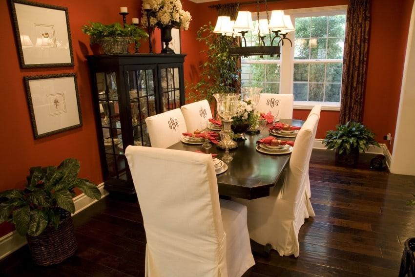 Amazing dining room interior design image gallery for Best colors for formal dining room