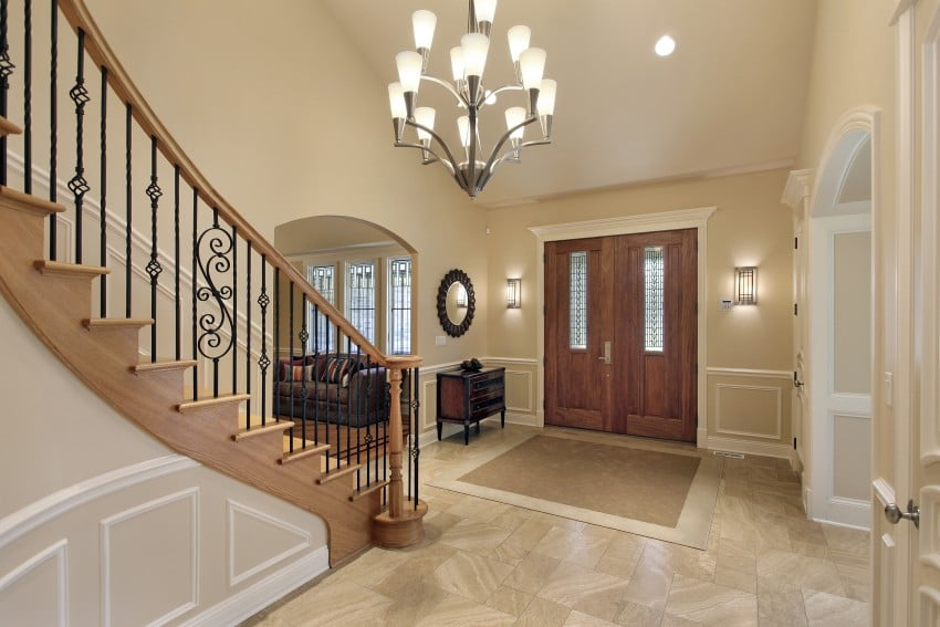 Foyer-in-luxury-home-with-curved-stair