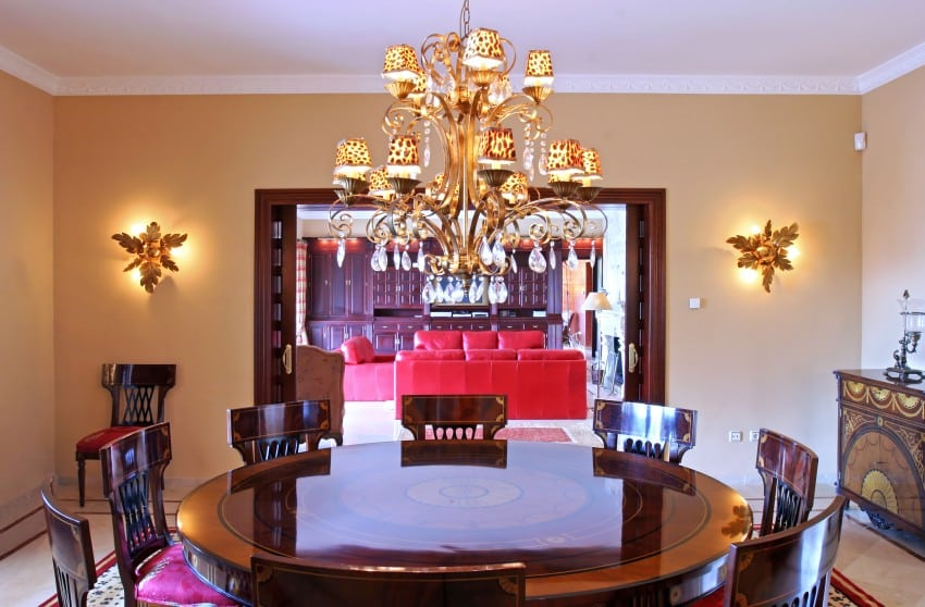 Interior-Of-Dining-Room-In-Spanish-Villa