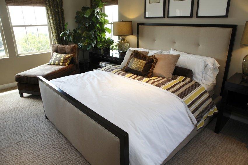 modest bedroom