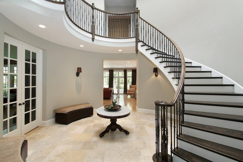 elegant rounded foyer