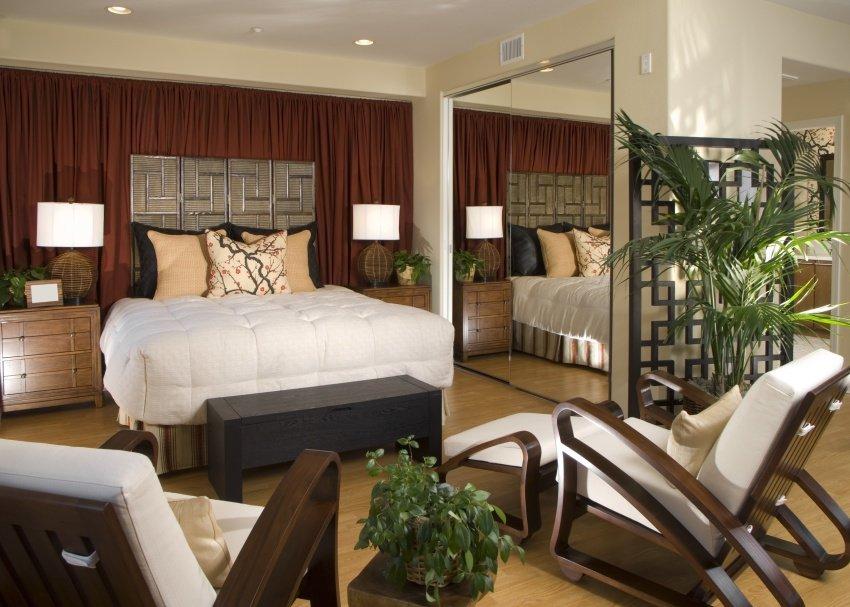 oriental inspired bedroom