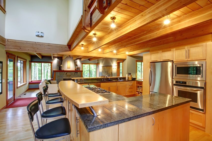 traditional kitchen set in wood
