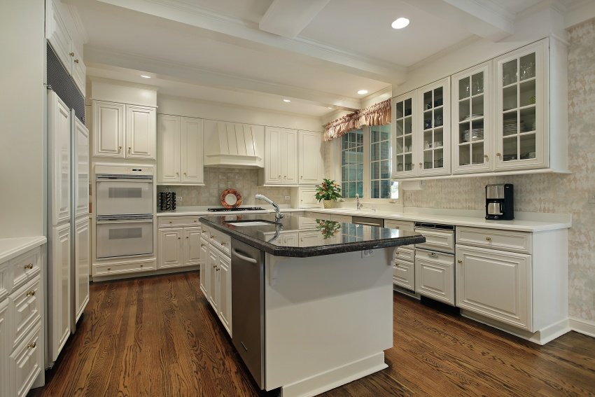 snow-white cabinetry