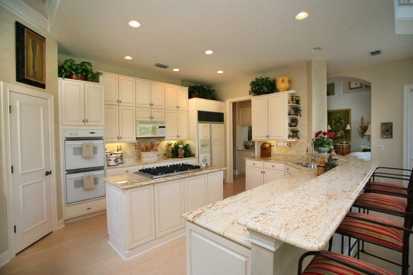 open concept cooking area