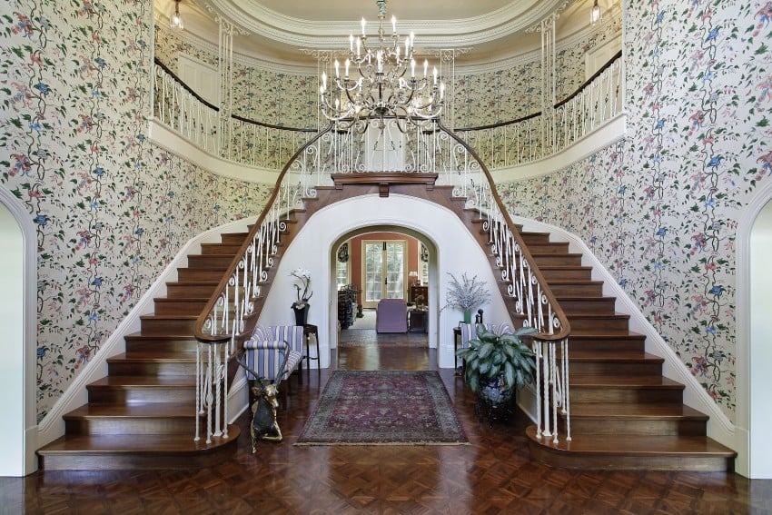 Two Story Foyer Or Not : Amazing luxury foyer design ideas photos with staircases