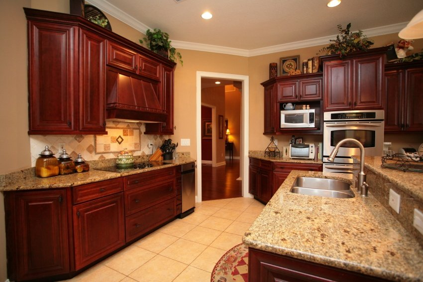 Best Paint Colors For Dark Stained Kitchen CabinetsPaintFree