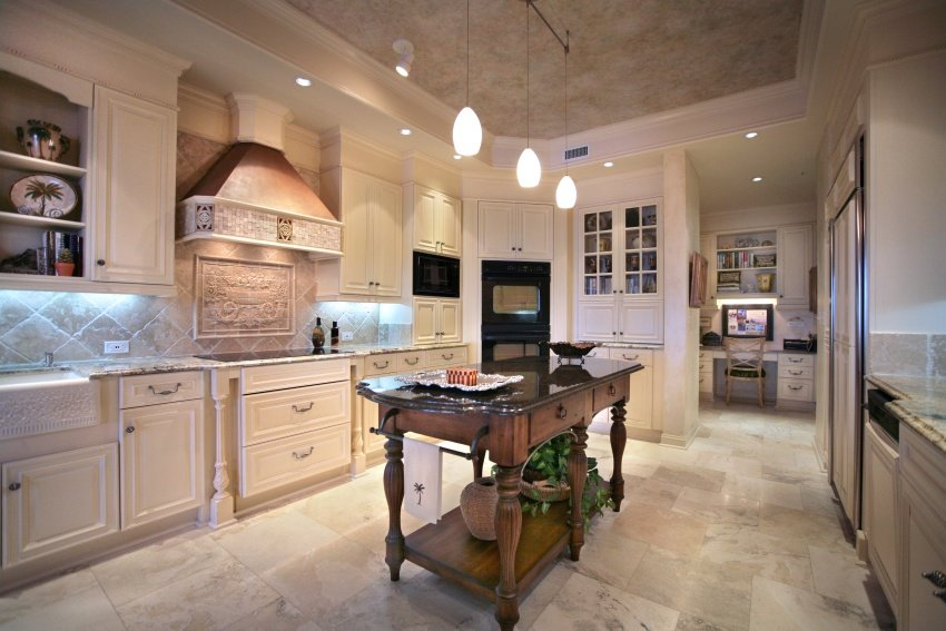 eggshell-colored kitchen