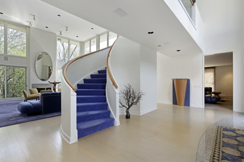 purple stair case