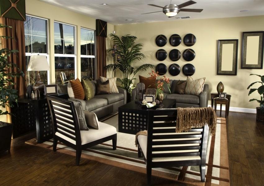 living room with unique furniture