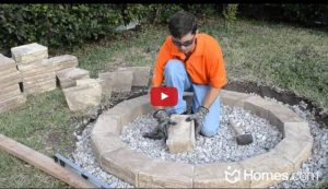 Building your Own Backyard Fire Pit with Stone