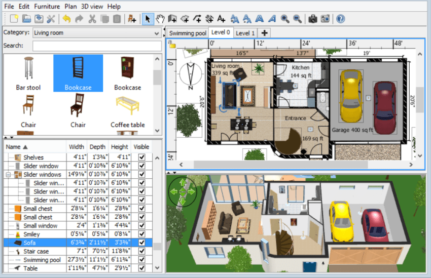 Best and free interior design software for Interior decorating software free