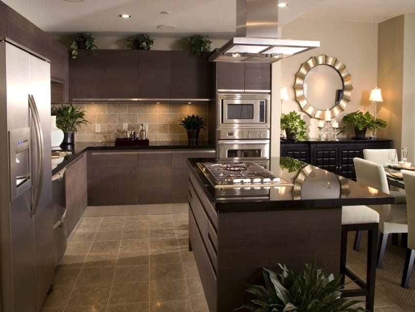 50 kitchen designs for all tastes small medium large for Large kitchen designs