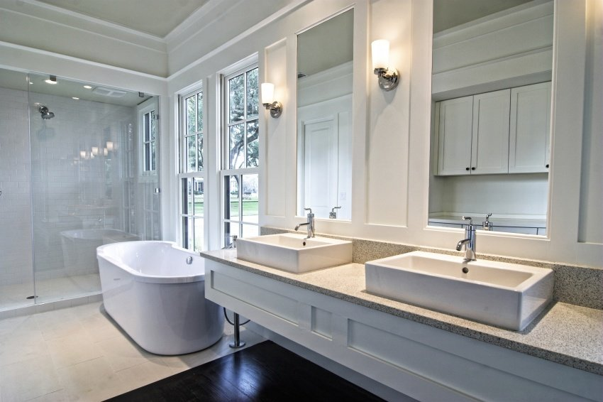 white color bathroom