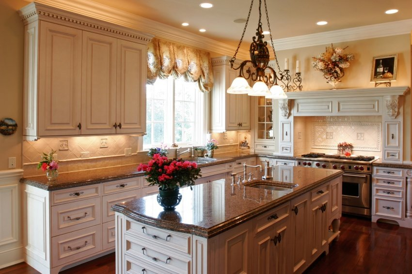 classic kitchen concept in ivory wood