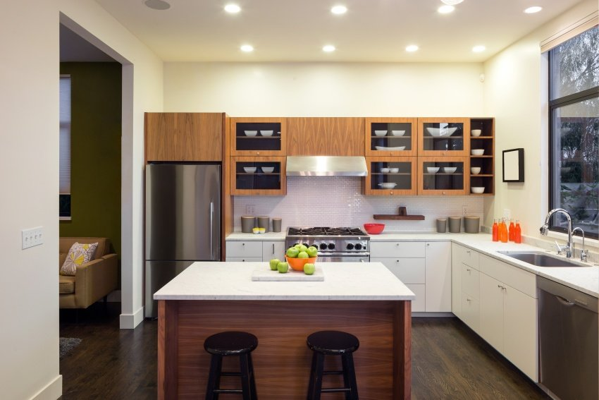 modern L-shape kitchen