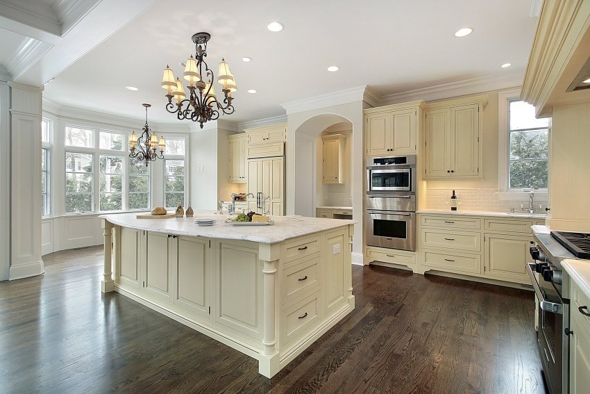 kitchen in cream beige