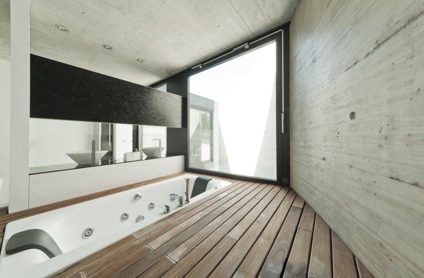 built-in bathtub