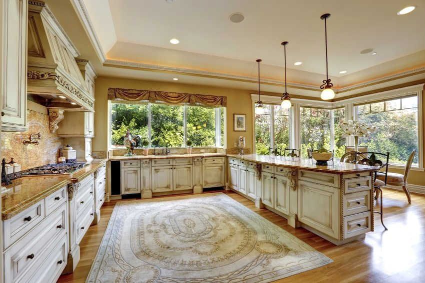 kitchen cabinetry is with a classic look