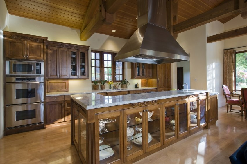 rich wood kitchen