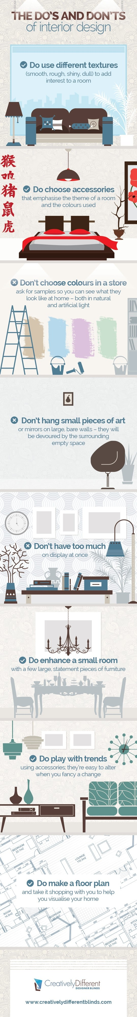 home design do s and don ts 25 home d 233 cor infographics and sheets that every 24006
