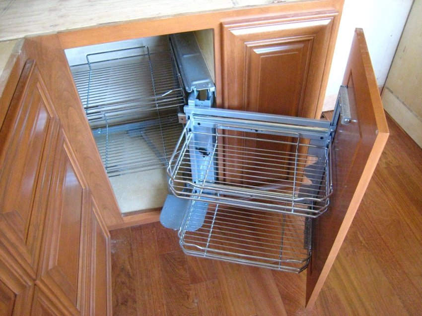 corner cabinet pull out