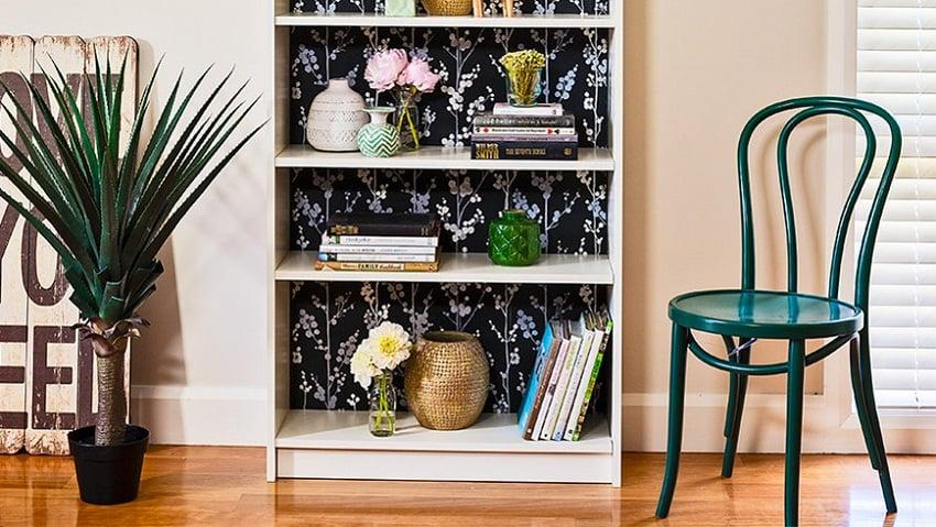 wallpaper in bookshelve