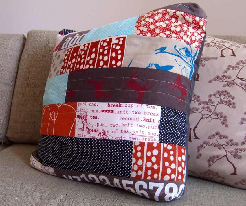 cushion in living room