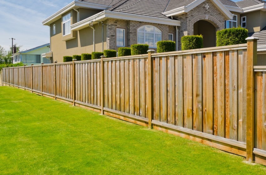 wooden fence for privacy