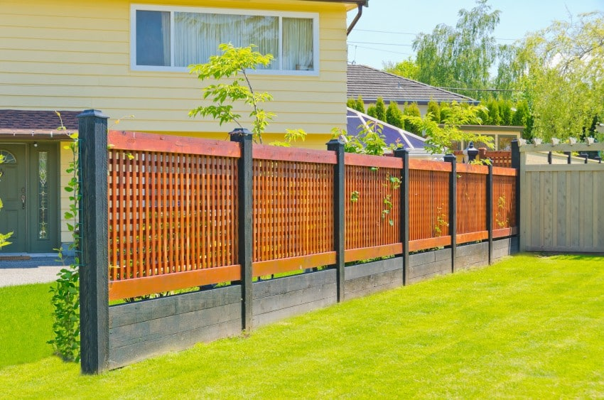 Fence styles and designs for backyard front yard images Wood garden fence designs