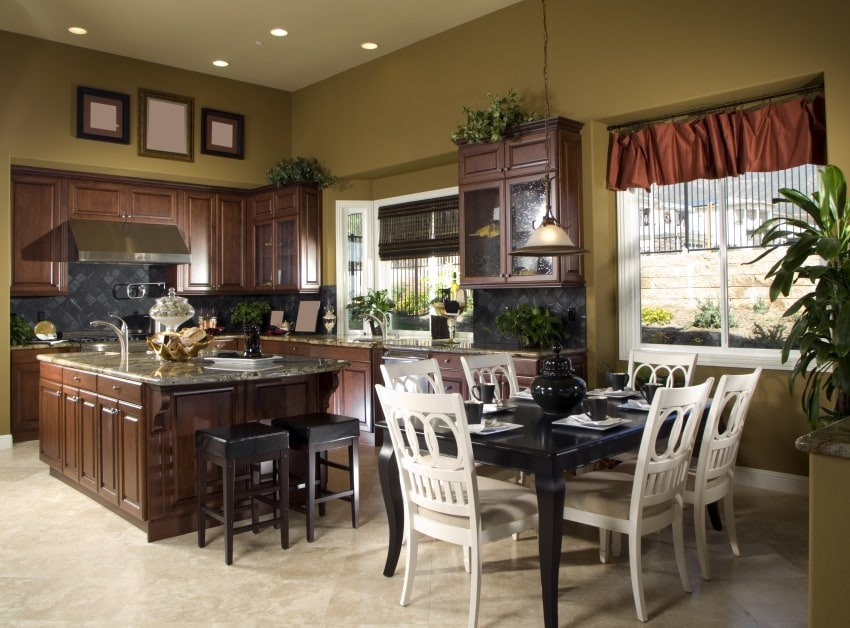 integrated kitchen and dining