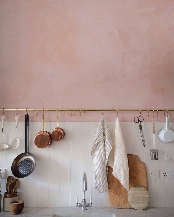 rose quartz color in kitchen