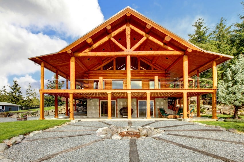 contemporary log house design