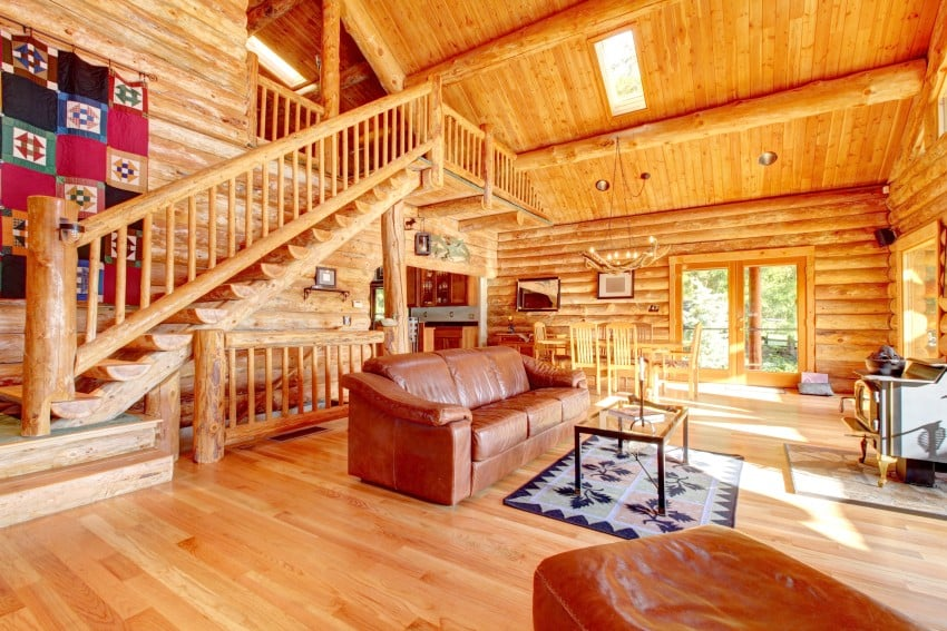 52 luxury log homes great pictures for Complete interior design of a house