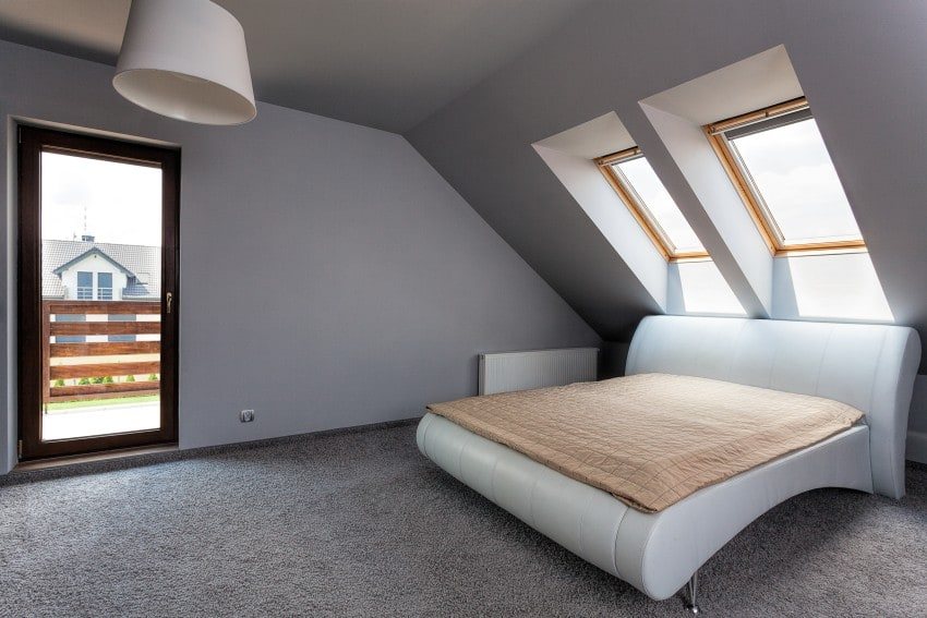 attic loft used as bedroom