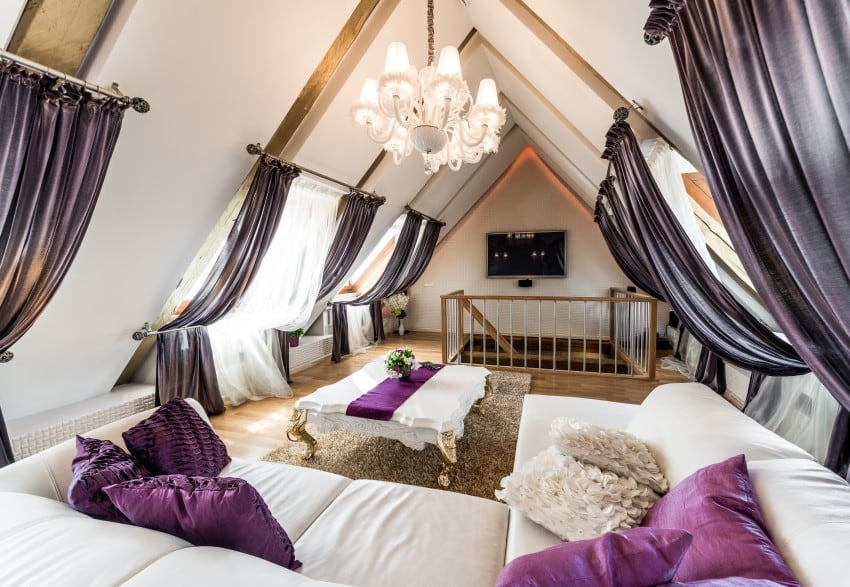 gorgeous and luxurious attic room