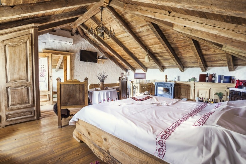 rustic design attic loft